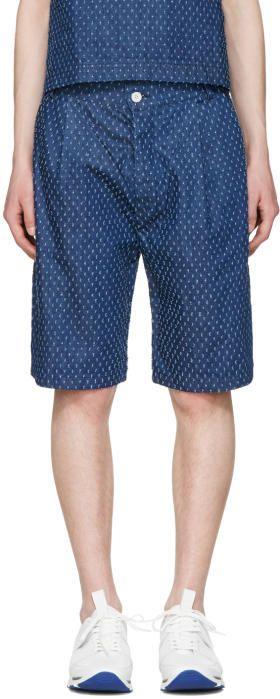 Sunnei Blue Denim Bermuda Shorts