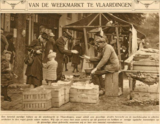Geschiedenis van Vlaardingen - Waalstraat, markttafereel