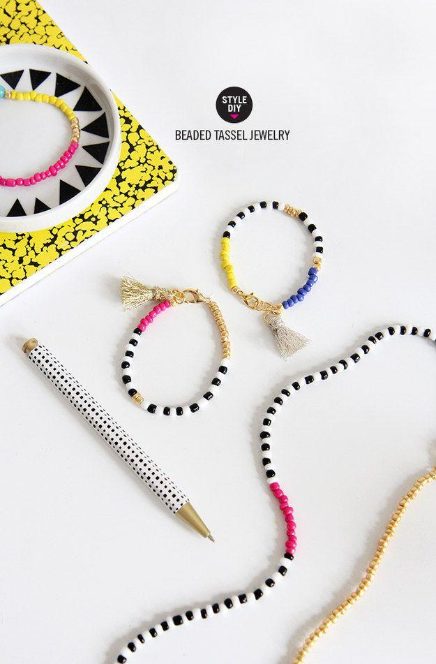 DIY / Beaded Tassle Jewellery