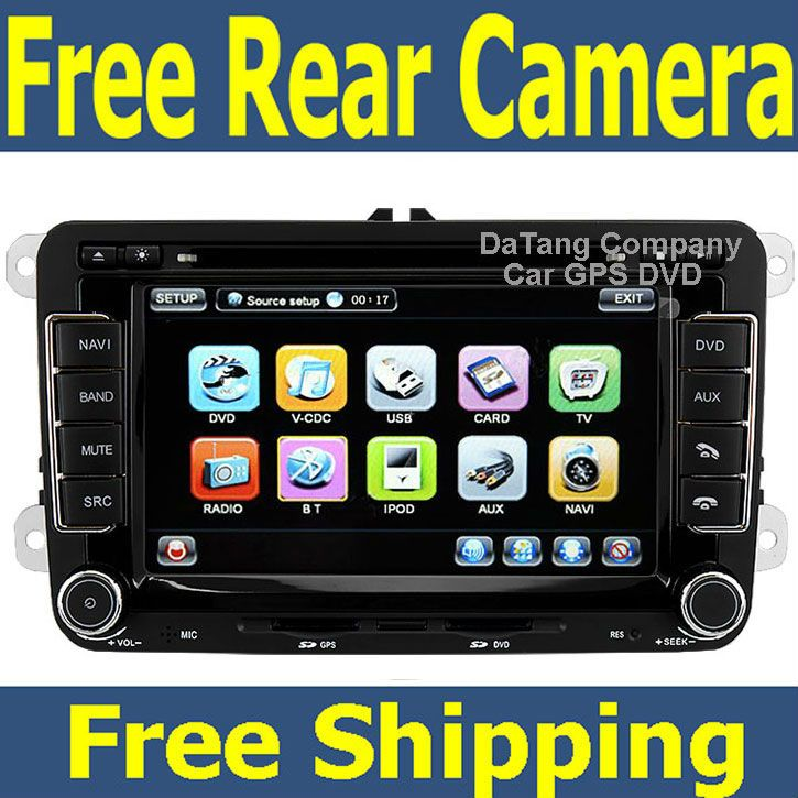 Car Head Unit Sat Nav DVD Player for VW Passat 2006 - 2012 B6 B7 with GPS Navigation Radio TV Stereo System $428.00