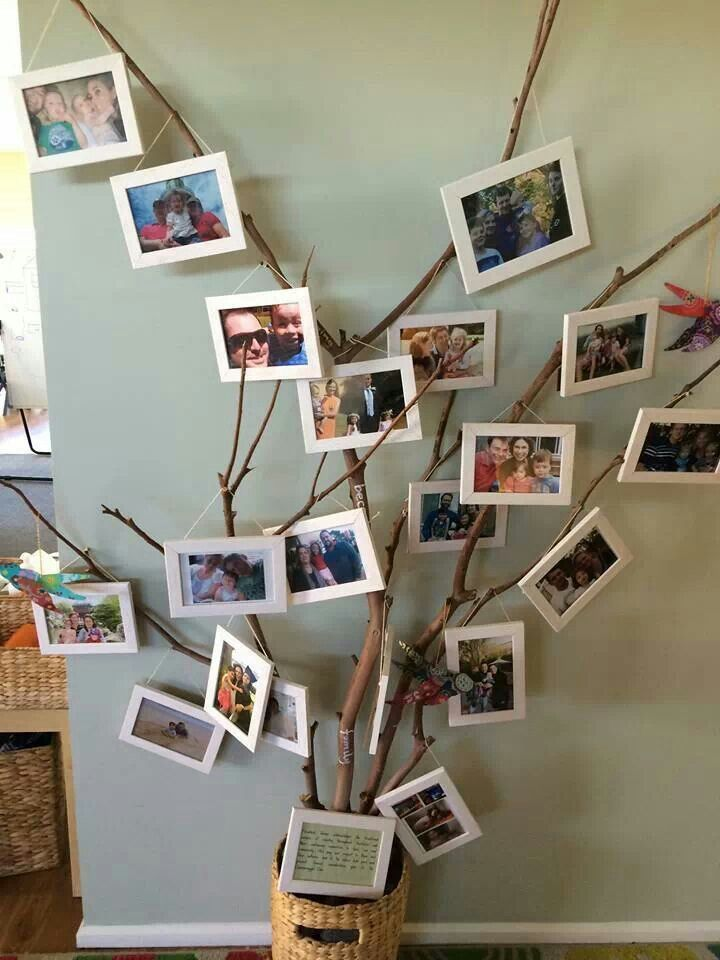 Belonging tree. Way to display families in the classroom.