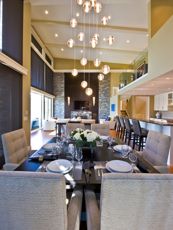 dining room small open plan kitchen living room design pictures