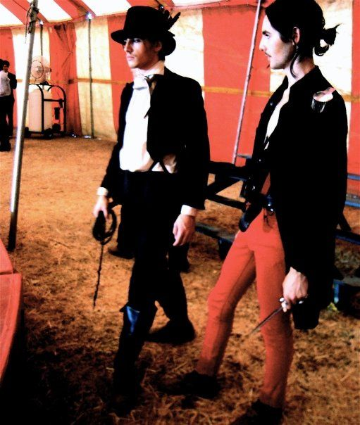 """Reeve Carney and Zane Carney    On the set of their CARNEY music video-""""Love Me Chase Me"""", directed by Tim Garrett"""