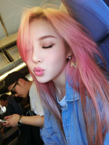 asian nude dyed hair