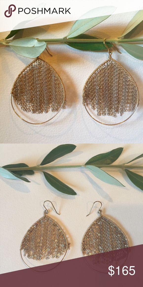 Anthropologie UK chain handmade earrings NWOT Anthropologie UK gold & silver…