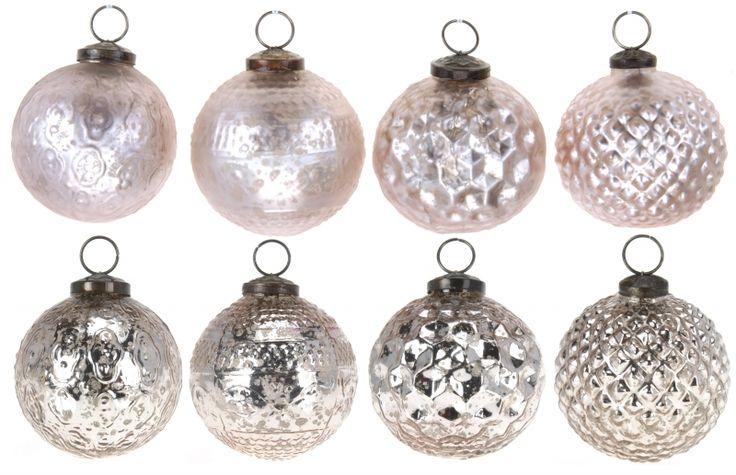 """Новогодние шары """"Винтаж розовый"""" набор 4шт."""
