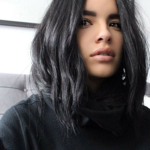 Charcoal / dark grey hair
