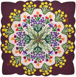 """Best of show at the inaugural QuiltFest Destination Savannah, """"Heralds of Spring"""" by Joann Webb of Grain Valley, Missouri."""