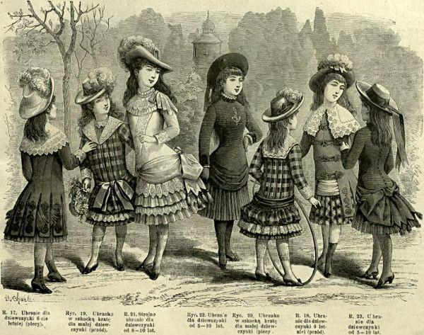 Stroje dla dziewczynek, 1883   Clothes for girls, 1883