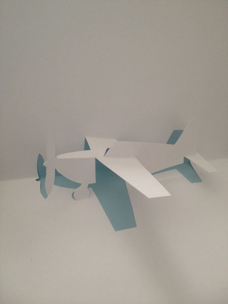 """Airplane pop-up card (Template from """"Cartes pop-up en kirigami - Architecture en origami"""")"""