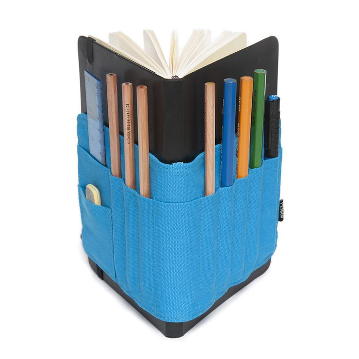 Blue PENroll for Large Moleskine® Notebooks. They also have ones for sketchbooks. They are a UK company