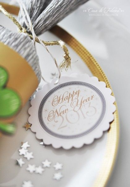 new year's eve party + free printables  from Casa di Falcone