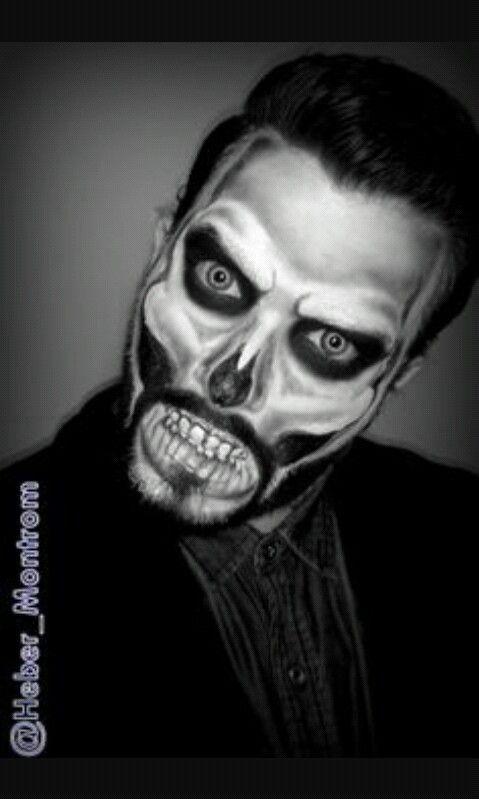 halloween makeup for men with beards