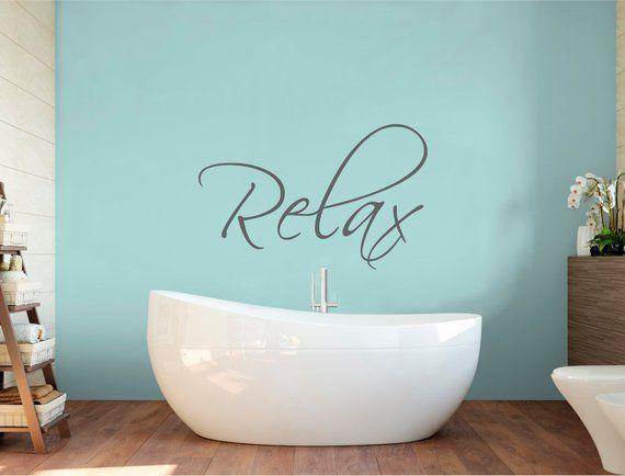Relax Wall Decal Bathroom Decor, Bathroom Wall Art Stickers