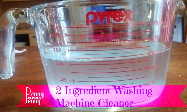 Washing Machine Cleaner Only 2 Ingredients to a better smelling washing machine!