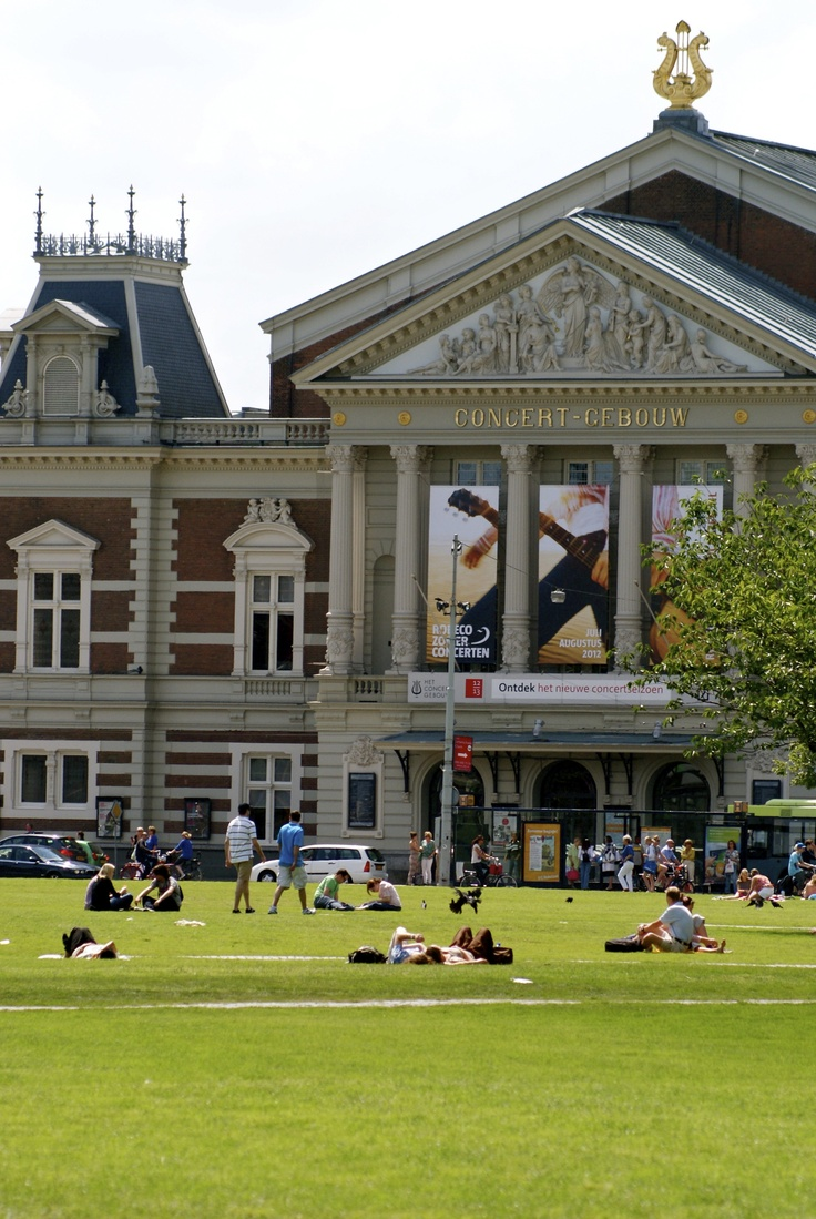 Holland, Amsterdam, Concertgebouw at Museumplein By: Lisette Eppink