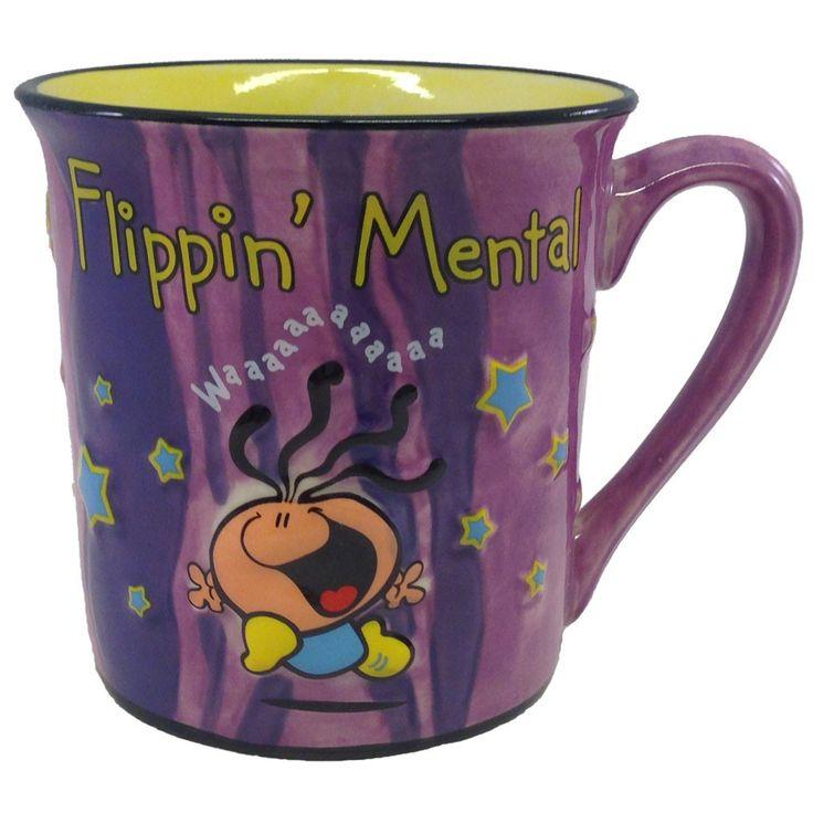 Nu nieuw in ons assortiment! De flippin' mental mok is een leuke mok met een prachtig relief. De mok heeft een inhoud van 300 ml en is maar 4,99 euro!