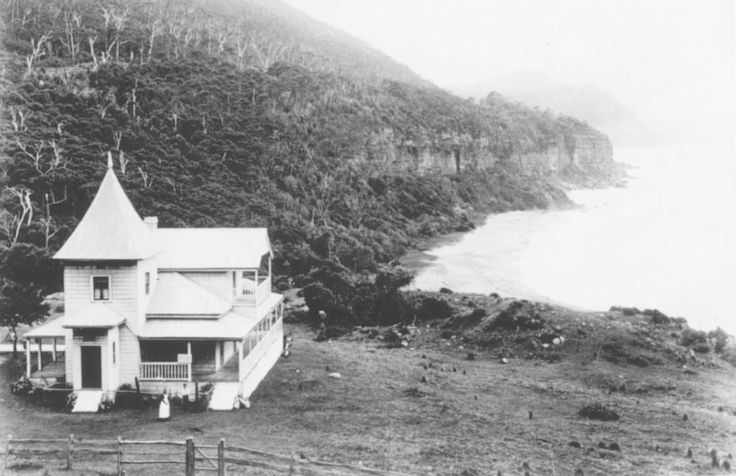 COALCLIFF: Coal Cliff House, c1890, the holiday home of Judge John Fletcher, Lawrence Hargrave's father. It was left by him in trust for his daughter Alice Paterson who, for a time, conducted it as a boarding house.G
