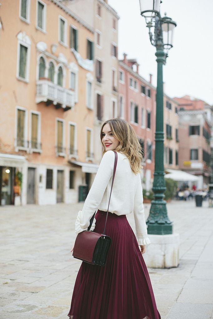 25  best ideas about Pleated midi skirt on Pinterest | Pleated ...