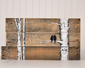 Signos de madera rústico madera madera por LindaFehlenGallery