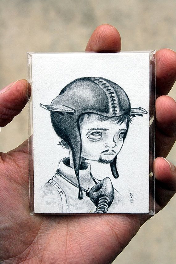 Unit 9 Pilot Original ACEO drawing by bryancollins on Etsy, $25.00