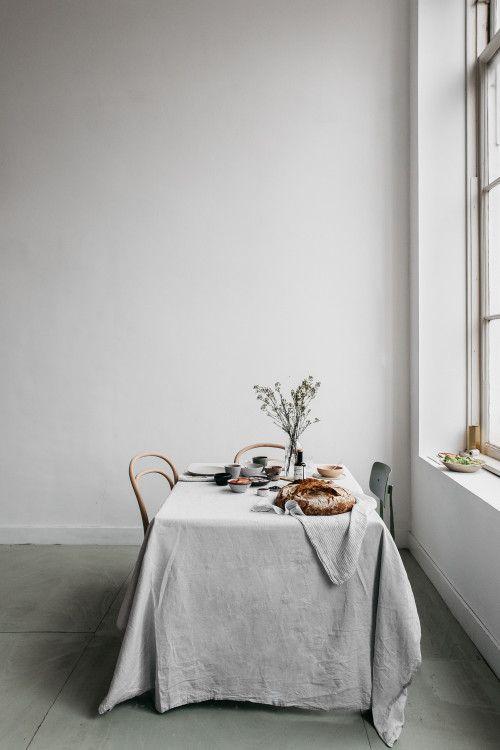 Nappe en lin, parfaite pour une déco de table naturelle