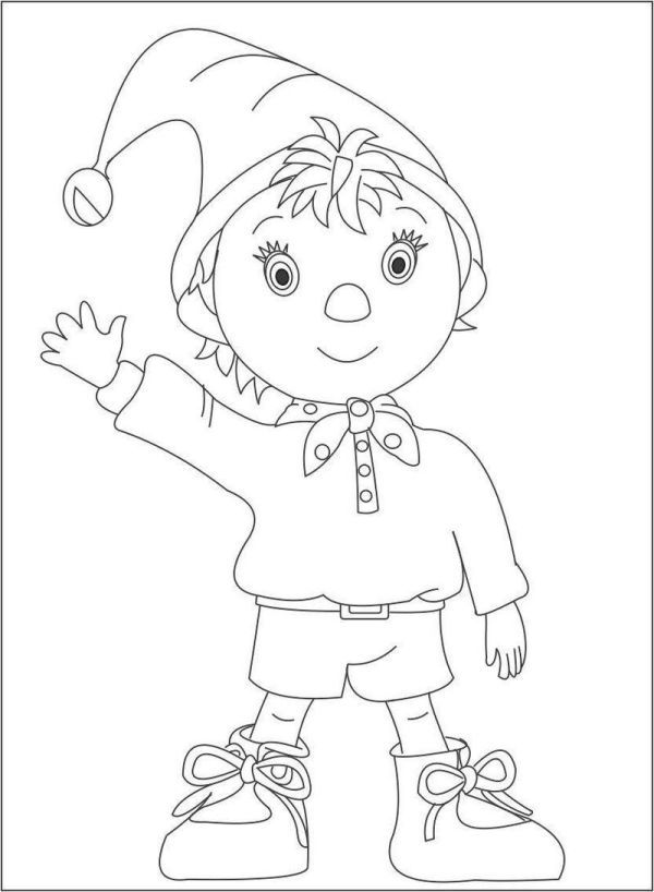 Noddy Coloring Pages Printable Cartoon Coloring Pages Coloring