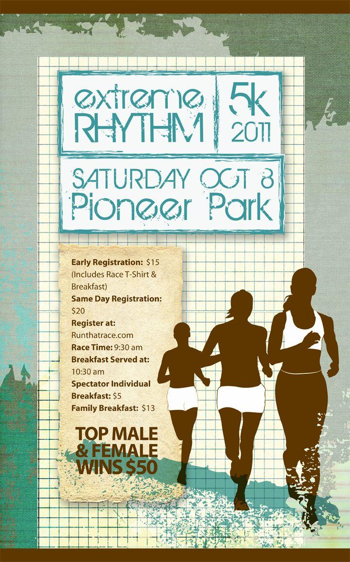 5k poster design - Design Lass 5k Run Poster Design For Extreme Rhythm
