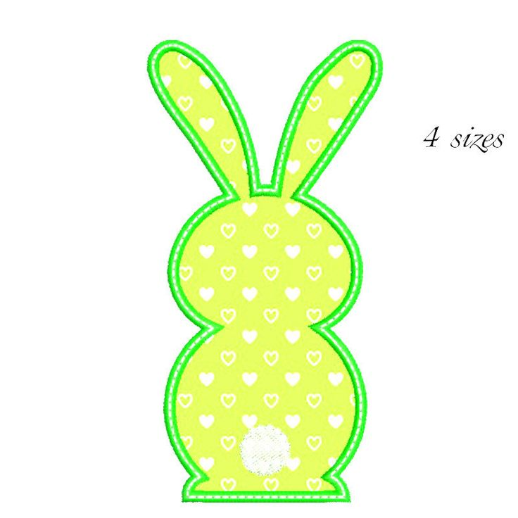 Bunny  Rabbit Easter Machine Embroidery Designs Instant Download by GretaembroideryShop on Etsy