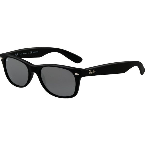Ray-Ban RB2132 New Wayfarer Sunglasses ($175) ❤ liked on Polyvore featuring accessories, eyewear, sunglasses, glasses, óculos, lentes, ray ban sunnies, wayfarer style sunglasses, ray ban glasses and ray-ban wayfarer