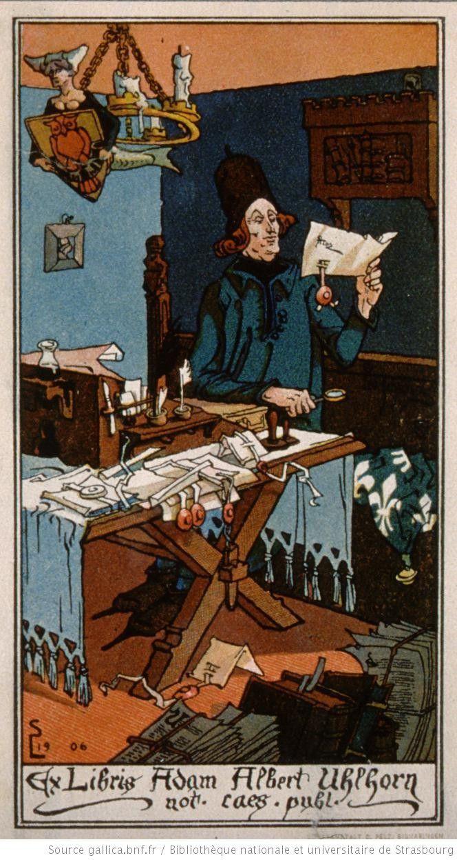 Ex-Libris Adam Albert Uhlhorn not. cœs. publ