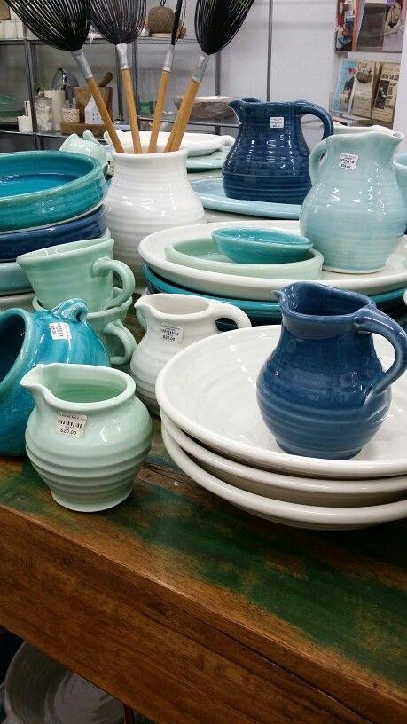 Tony Sly Ceramics jugs bowls and salt pigs
