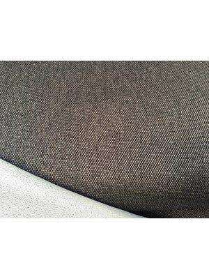 Møbelstof - gråbrun, tykt, stivere, polyester