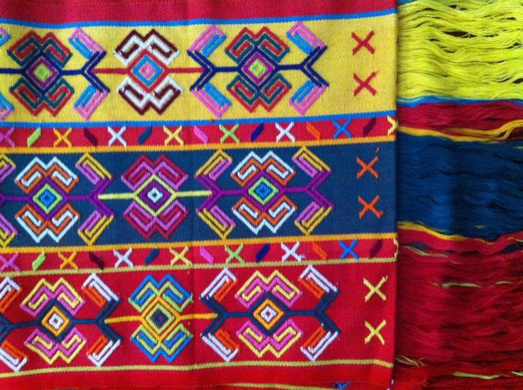 East Nusa Tenggara Traditional Ikat Weaving 3 Colour Nunkolo Shawl Timor Motif