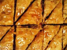 Nut Free Baklava Recipe - My boss is allergic to walnuts, but she loves all the other ingredients in baklava...might have to try this for her! I wonder if pistachios will work as a replacement? Hmm...