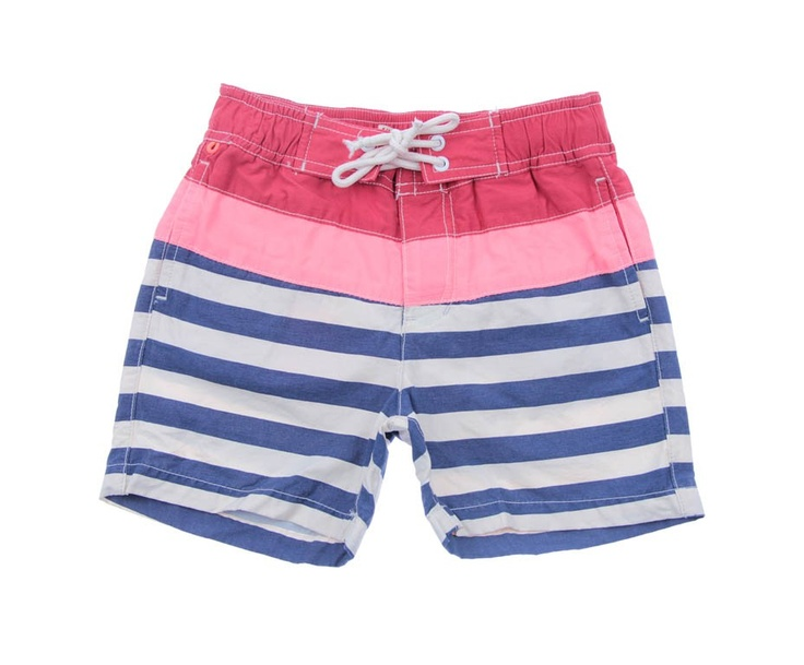 Scotch Shrunk Junior Boys Red & Blue Stripe Swimming Shorts
