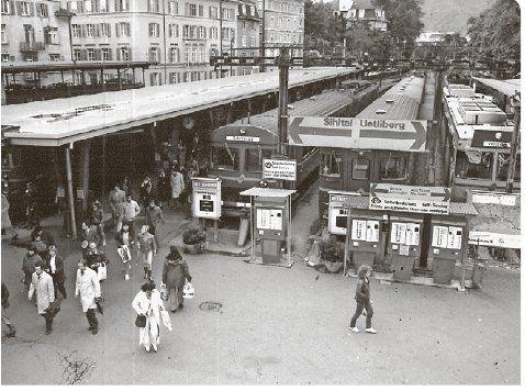 Bahnhof Selnau in den 1970er-Jahren (SZU-Endstation bis 1990).  Gesehen im Tagblatt der Stadt Zürich vom 26.04.2017 (http://epaper2.tagblattzuerich.ch/ee/tazh/_main_/2017/04/26/001/)