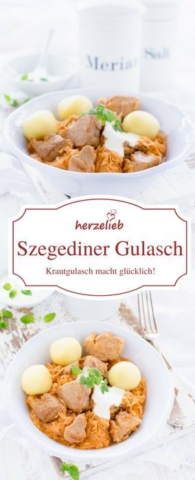 Rezept für Szegediner Gulasch - Eintopf vom Feinsten! Krautgulasch von herzelieb #deutsch #foodblog #rezepte