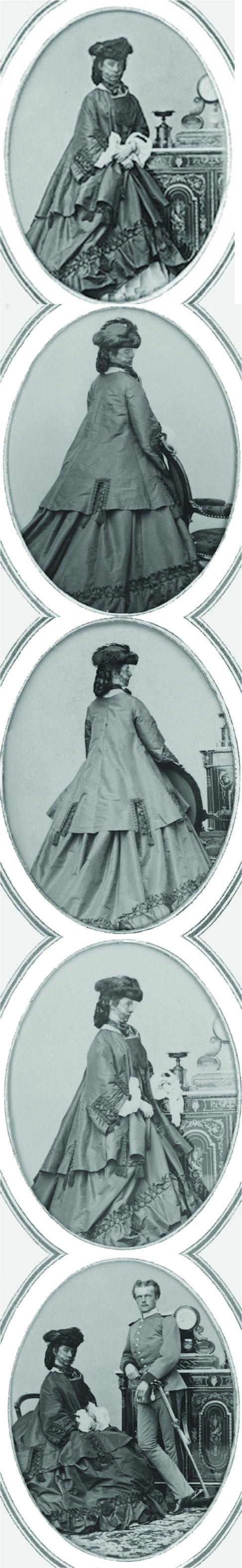 Sisi wearing dark dress set - Empress Elisabeth of Austria (due to the movie also known now as Sissi, 1837-1898)