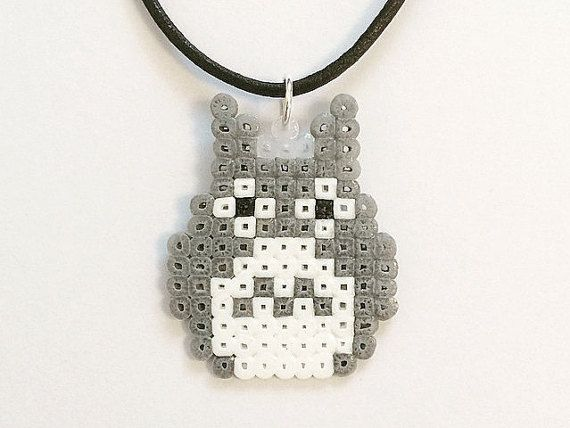My Neighbor Totoro Inspired Hama Bead Necklace