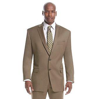 Lauren Ralph Lauren Men's Big & Tall Tan Solid Suit Separates Two-Button Jacket