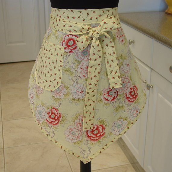 Vintage Half Aprons for Sale | SALE Retro Half Apron . . . morning glory by FancyBoutique on Etsy