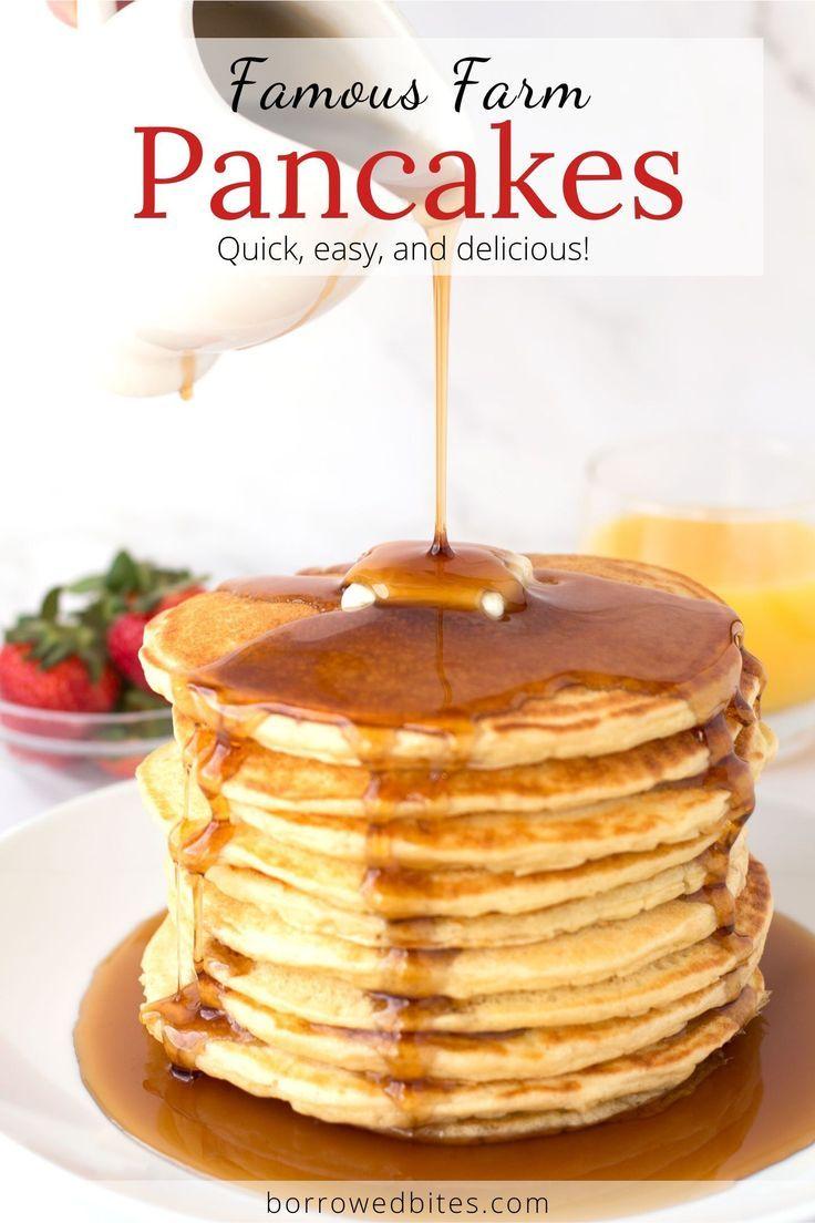 Famous Farm Buttermilk Pancakes Borrowed Bites Recipe In 2020 Buttermilk Pancakes Tasty Pancakes Homemade Buttermilk