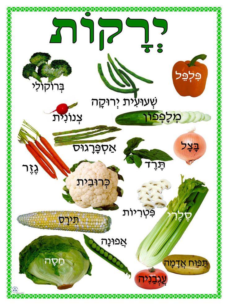 JECC Marketplace - Hebrew - Vegetables Poster (PF-2), $5.00…