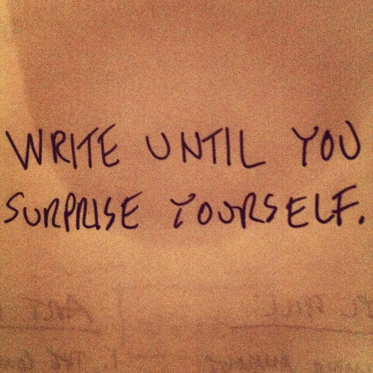 Keep writing.