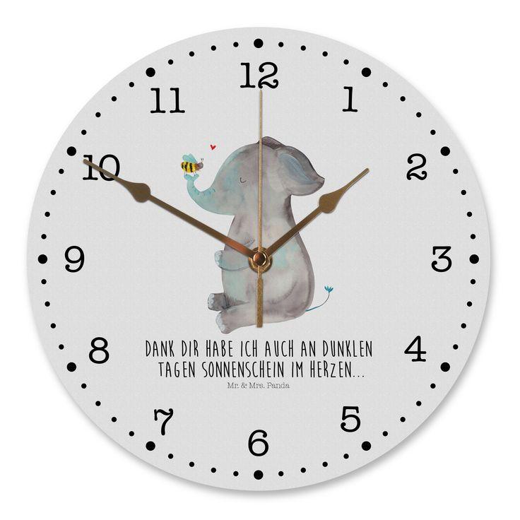 Exceptional 30 Cm Wanduhr Elefant U0026 Biene Aus MDF Weiß   Das Original Von Mr. U0026 Mrs.  Panda. Diese Wunderschöne Uhr Von Mr. U0026 Mrs. Panda Wird Liebeveoll In  Unserem Hause ... Awesome Design