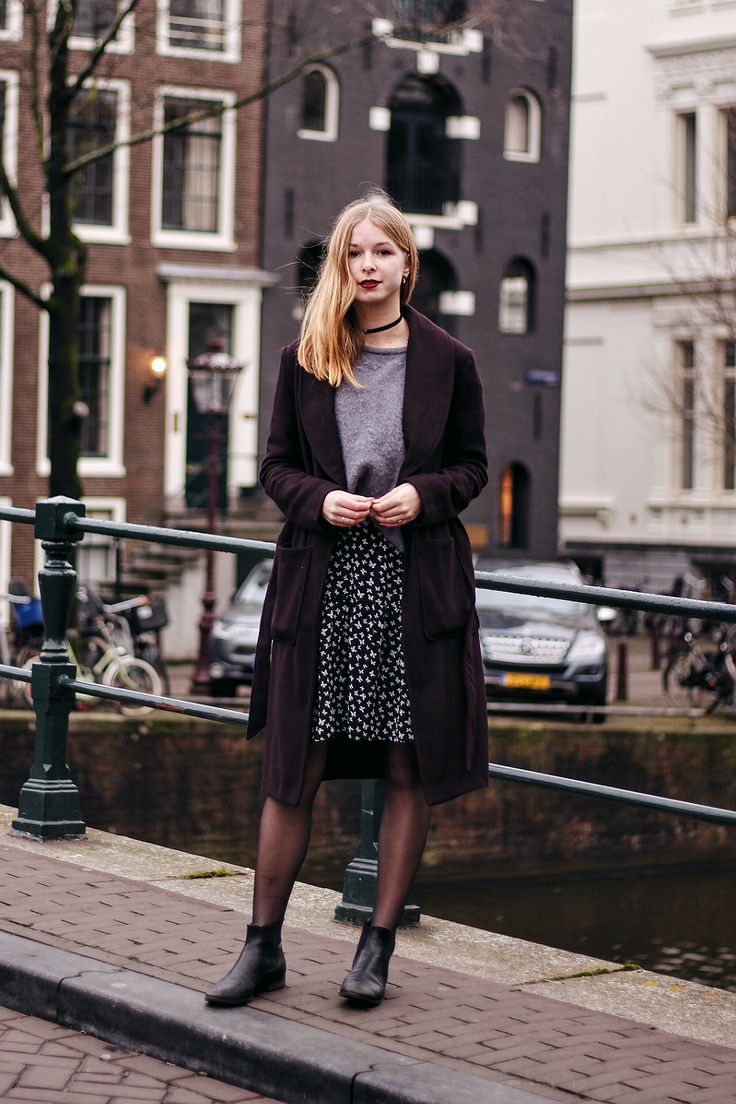 OUTFIT, Shades Of Purple, style, fashion, inspiration, street, blogger, look, amsterdam, dress, american vintage, aaiko,