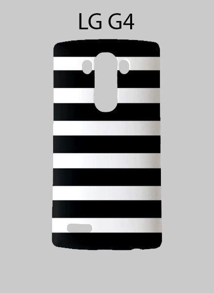 Black White Striped LG G4 Case Cover