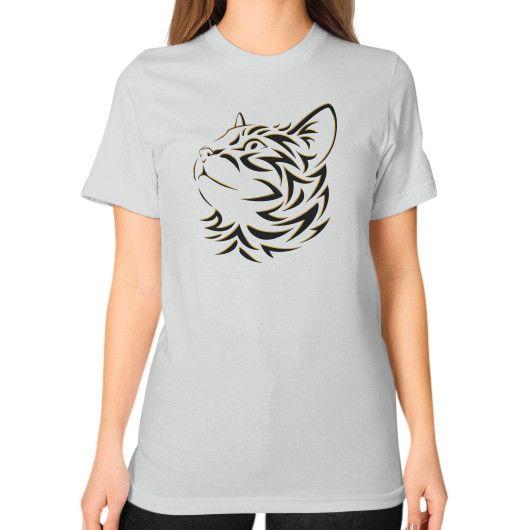 Lunskee Cat Tee Unisex T-Shirt (on woman)