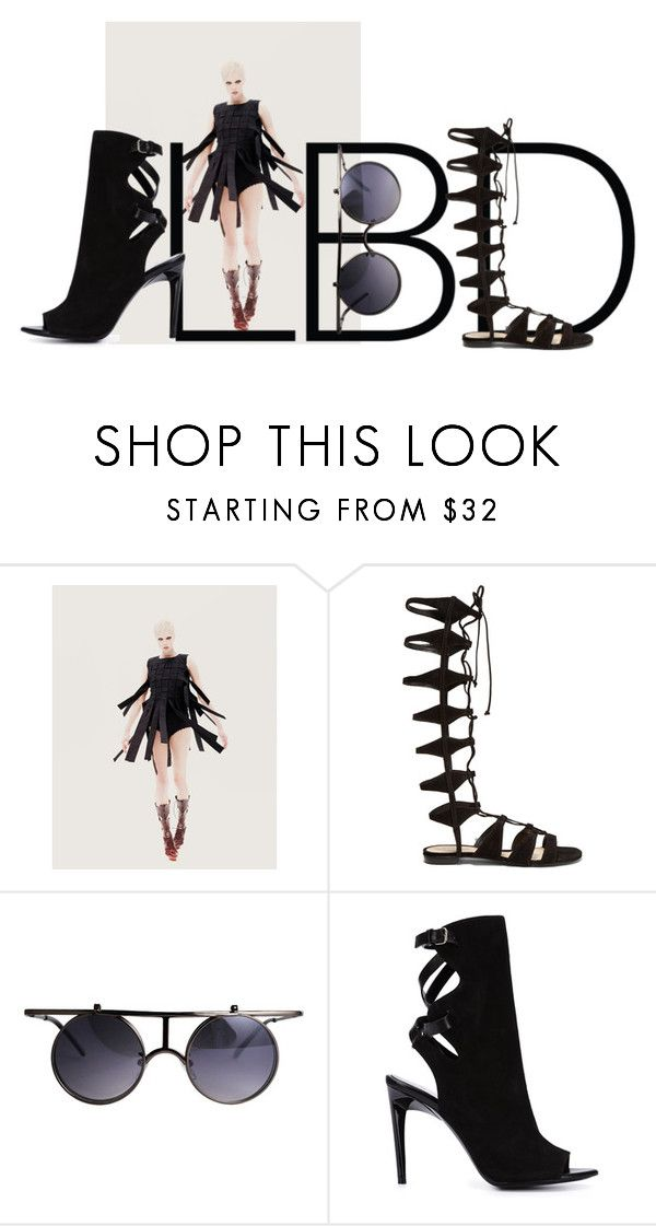 """""""Little Black Dress"""" by chilirose-creative ❤ liked on Polyvore featuring Schutz and Proenza Schouler"""